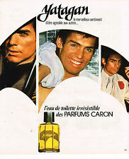 PUBLICITE ADVERTISING 035  1977  CARON  eau de toilette pour homme YATAGAN