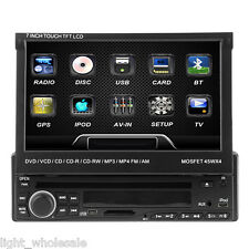 "Sale 1 DIN 7"" Touch Screen In dash Car Stereo DVD Player Bluetooth TV Radio Ipod"