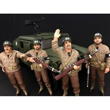 WWII  MILITARY POLICE 4PC FIGURES 1:18 AMERICAN DIORAMA 77414,77415,77416,77417