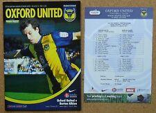 Programma CALCIO PLUS teamsheet > Oxford United V Burton Albion MAR 2011