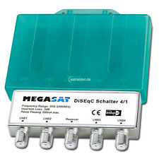 Megasat 4x1 4/1 DiseqC Switch Switch with weather protection