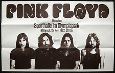 PINK FLOYD REPRO 1972 MUNICH 15 NOVEMBER CONCERT POSTER . NOT CD DVD