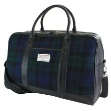 HARRIS TWEED Black Watch Holdall 100% virgin Wool tweed on Sale Brand New Line