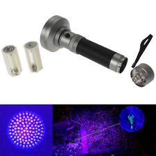 100 LED UV Blacklight Scorpion Flashlight 400nm Black Bright Inspection Light