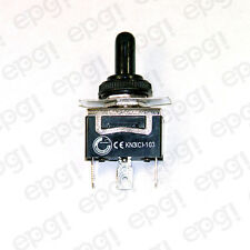 TOGGLE SWITCH MOMENTARY SPDT 3P C/O (ON)-OFF-(ON) SPADE w/BOOT CVR#661950/665001
