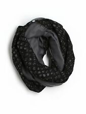 Women Lululemon Vinyasa Scarf Fleece/Cotton Simply Lace Black Gray NON STRETCHY