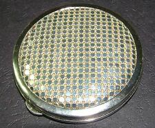 Vintage Silver Compact Mint Glomesh Retro 1970s Powder Make Up Rare Unused Bling
