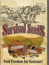 SURVIVAL SEEDS PLAYING CARDS Gardening Fruits Vegetables Growing Tips & Ideas