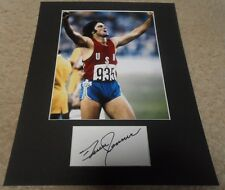 BRUCE JENNER/CAITLYN JENNER autographed cut matted display with photo OLYMPIC