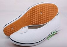 New Fashion Womens Hidden Heel Wedge Casual Shoes Comfy Nurse Shoes Flats US 8