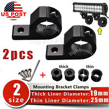 "2X 19 to 25mm 1"" inch BULL BAR MOUNT BRACKETING CLAMP FOR SPOT LED LIGHT BAR ATV"