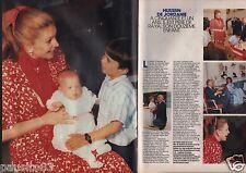 Coupure de presse Clipping 1966 Noor & Hussein de Jordanie  (2 pages)