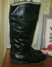 SOVIET MILITARY UNIFORM PARADE LEATHER BOXCALF OFFICER BOOTS SIZE 42 very wide