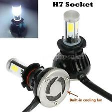 WATERPROOF 2X 40W 4000LM H7 COB LED CAR HEADLIGHT FOG LIGHT LAMP BEAM KITS F9Q0