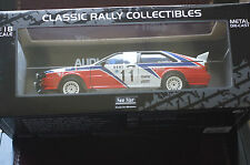 SUNSTAR 1:18 Audi Quattro Race series MINT BOX Big Modelo paralizadora Numerada Ltd Ed