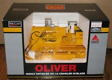 Oliver OC-12 Crawler Tractor Dozer 1/16 Toy 2007 Spec Cast Metal Tracks SCT289