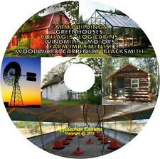 Farm Buildings:Barn Silo Stable Log Cabin Cob/Eart House Greenhouse Wind Mill CD
