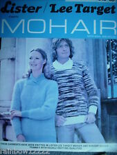 Vintage ladies & mens mohair sweater jumper knitting pattern