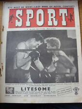 22/07/1949 Sport Magazine: Boxing Front Cover Image, A Hard Hitting Picture & In