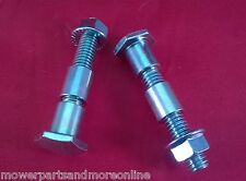 "2 x Universal Lawn Mower Deck Wheel Stub Axle 1/2"" Assembly, Greenfield Masport"