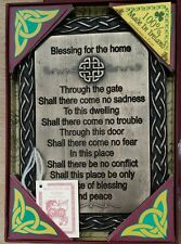 Traditional irish house warming cadeau celtique irlandais home blessing plaque bronze