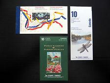 CANADA 1991 Booklets (3) SB140, 1 & 2 Cat £20 FP7657
