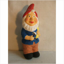 7.5 INCH GNOME WITH AN AXE AND SACK GARDEN ORNAMENT.LATEX MOULD/MOULDS/MOLD