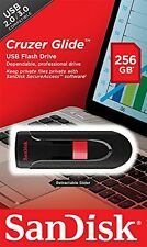 SanDisk - Cruzer 256GB USB 2.0 Flash Drive - Black/Red - New