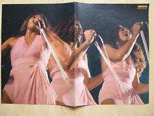 Tina Turner Autogramm signed 28x41 cm Poster gefaltet