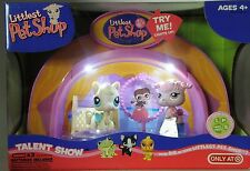 Littlest Pet Shop light up Talent Show with cream horse pony&  pink poodle