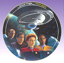 The VOYAGE BEGINS  Star Trek Voyager Episode Plate- FREE S&H
