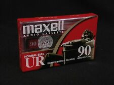 New Maxell UR-90 Minute Blank Audio Cassette Tape