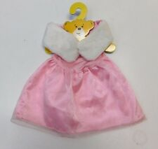Build A Bear Girls Clothes 2 PC Pink Fancy Party Dress & Faux Fur Shawl Wrap