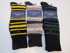 Lot of 3 Pairs NWT Mens TOMMY HILFIGER Socks - Multi Colored Stripes Fits 10-13