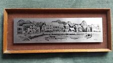 Antique Map Of PADSTOW HARBOUR  Hademade *Stainless Steel and Framed*