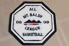 All Mt Baldy 08 09 League Basketball Clothing Patch White Mountains School Badge