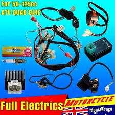 Full ELectrics Wiring Harness Loom Solenoid Coil 70cc 110cc ATV Quad bike Monst