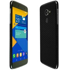 Skinomi Black Carbon Fiber Skin+Clear Screen Protector for Alcatel IDOL 4s