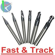 6pcs R0.5-3mm HRC45 2 Flutes Ball Nose End Mill Nitrogen Coated Milling Cutter