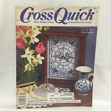 Cross Quick Magazine Easy Project Cross Stitch Lovers Aug/Sep 1989 Free Shipping