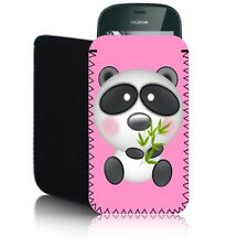 'PANDA' (M) Shock Resistant Mobile Phone Case, Cover, Pouch for NOKIA ASHA 201