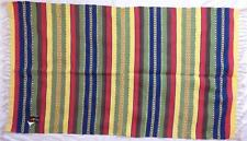 NEW FAIR TRADE GRINGO BOHO ETHNIC HIPPY AZTEC STYLE COTTON RUG CARPET FROM INDIA