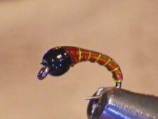 Tungsten Epoxy Zebra Midge Choc Chart #14 Fly Fishing FliesTrout Flies-Wet