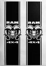 5.7 LITER DODGE RAM HEMI Head TRUCK 4x4 RACING Race STRIPE VINYL DECAL STICKER