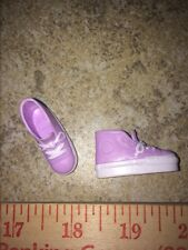 BARBIE Light PURPLE White HIGH TOP FLAT FOOT Skater Gym Athletic TENNIS SHOES