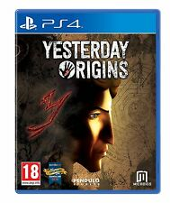 Yesterday Origins [Playstation 4 PS4 Rich Plot Puzzles Stories 3D Visual] NEW