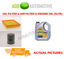 PETROL OIL AIR FILTER KIT + LL 5W30 OIL FOR VAUXHALL ASTRA 1.8 125 BHP 2002-03
