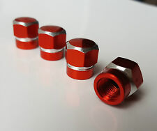 Red BOLT Hex Alloy Metal Dust Valve Caps for Toyota Celica MR2 Starlet GT86 iQ