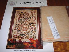 ROSEWOOD MANOR AUTUMN QUAKERS CROSS STITCH CHART & CASHEL LINEN PREORDER