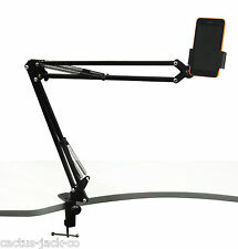 TELESCOPIC DESK MOUNTING STAND FOR MOBILE/IPAD/TABLET ETC. WITH G CLAMP MOUNT